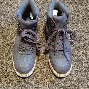Grey Merona lace up boots